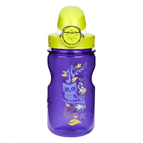Nalgene Kids Otf Hoot Bottle (Purple/Green, 12-Ounce)