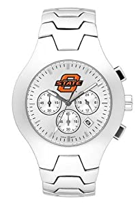 Oklahoma State Cowboys Hall Of Fame Sterling Silver Watch by Logo Art