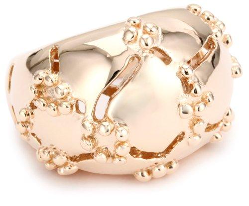 GALA by Daniela Swaebe Crocodile Rose Gold Dome Ring Size 8