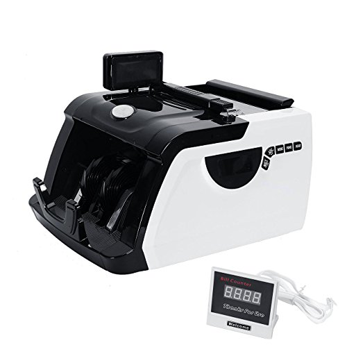 BEAMNOVA Money Bill Counter Cash Multi-Currency Counting Machine Dual Display UV MG Counterfeit Detector (Mixed Money Counting Machine compare prices)