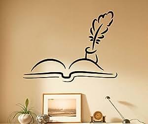 Books Wall Vinyl Decal Murals Library Sticker Bedroom Art Home Decor 6bcs01