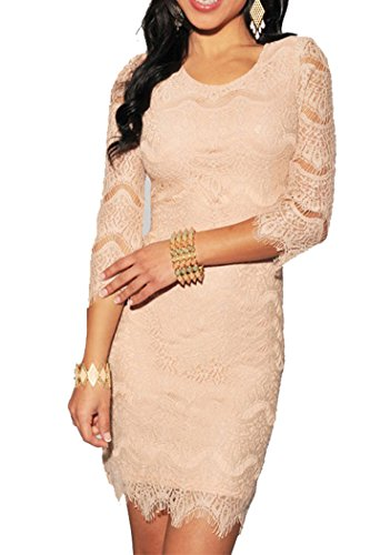 made2envy-Allover-Lace-Three-Fourth-Sleeves-Dress