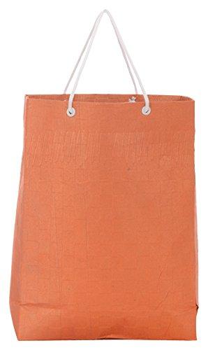 Utsav Kraft Paper 3 Ltrs Orange Reusable Shopping Bags
