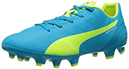 PUMA Women\'s Evospeed 4.4 FG Soccer Cleat, Atomic Blue/Safety Grey, 8.5 B US