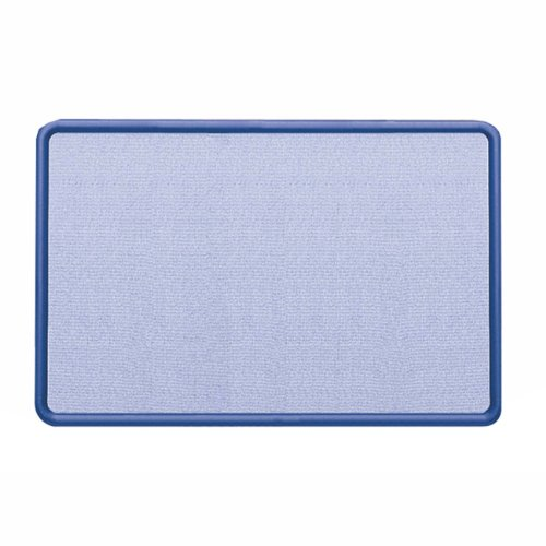 Quartet Contour Light Blue Fabric Bulletin Boards 4 x 3 Feet Navy Blue Plastic Frame 7694BEB00006I9WH : image