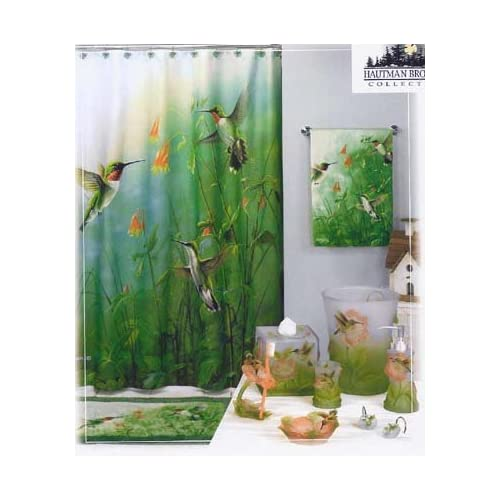 Amazon.com: Summer jewel HUMMINGBIRD bathroom SHOWER CURTAIN