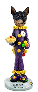 Amazon.com - Miniature Pinscher Tan and Black Clown Doogie Collectable