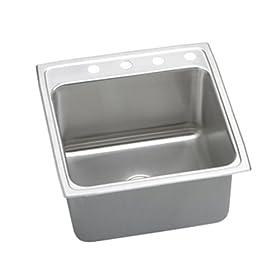 Elkay DLRQ2222104 Gourmet Lustertone Sink, Stainless Steel