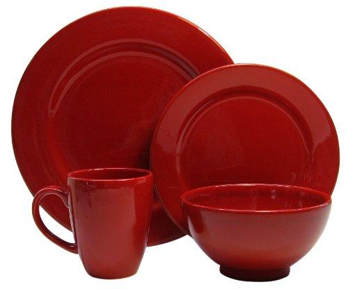 Waechtersbach Fun Factory II Red 16-Piece Dinnerware Set, Service for 4