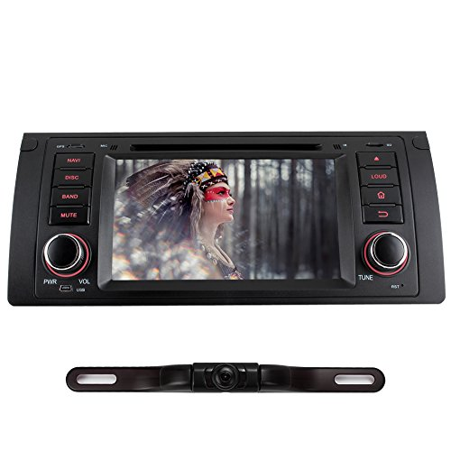 NAVISKAUTO(TM) 7 Inch Android 4.4 Quad Core Single Din In Dash Car DVD Player Stereo Touch Screen GPS Navigation for BMW 5 Series E53 X5 M5 E39 Support Bluetooth/WIFI/1080P Video with Rear Camera (Bmw X5 Monitor compare prices)