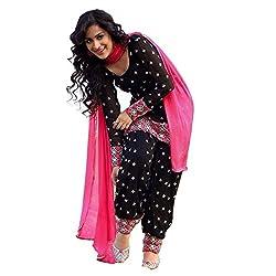 new black punjabi patiala suit dress material