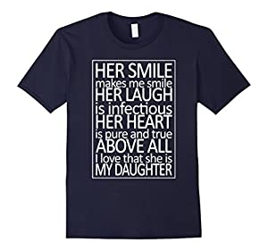 Men's Her Smile Her Laugh Her Heart Above All My Daughter Shirt XL Navy