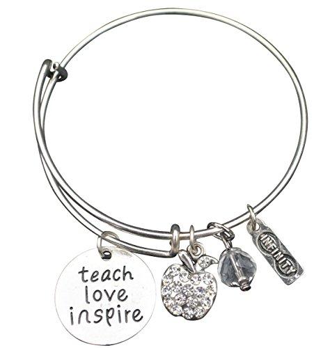 Teacher Bangle Bracelet-Teacher Gift, Teacher Jewelry, Show Your Teacher Appreciation, Thank You Gifts for Teachers