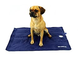 "PlayaPup Pet Chiller Cooling Mat, Blue, Large (36"" x 27"")"