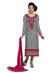 Kanheyas Womens Georgette Unstitched Dress Material (Kmtsd477 _Grey)