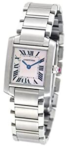 Cartier Women's W51028Q3 Tank Francaise Pink Mother of Pearl Watch