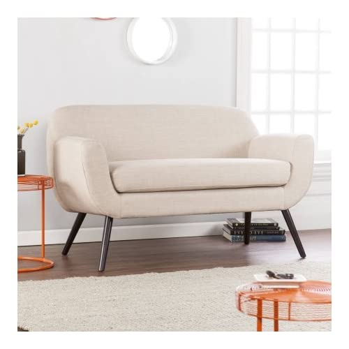 Holly & Martin Supra Loveseat, Make midcentury modern magic with classic spindle legs and vintage chic silhouette