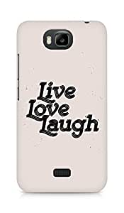 Amez Live Love Laugh Back Cover For Huawei Honor Bee