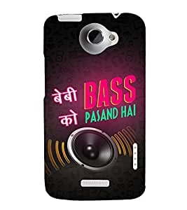 Baby ko Bass Pasand Hai 3D Hard Polycarbonate Designer Back Case Cover for HTC One X