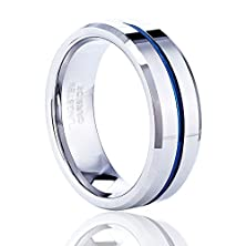 buy Tusen Jewelry Thin Blue Line Tungsten Carbide Ring Wedding Band