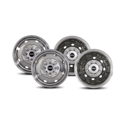 """4 PCS 16/"""" Dual Steel Wheel Simulators For FORD E350 Mounting Rim Stainless Steel"""