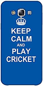 Snoogg Keep Calm And Play Cricket Hard Back Case Cover Shield Forsamsung Gala...