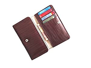 ATV PU Leather BROWN Designer Flip Pouch Case Cover For HTC One (M8)