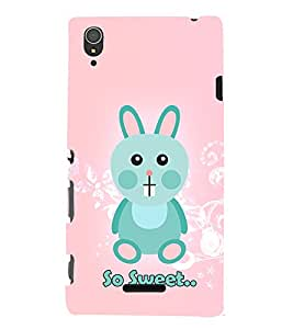 So Sweet Girly Rabbit 3D Hard Polycarbonate Designer Back Case Cover for Sony Xperia T3