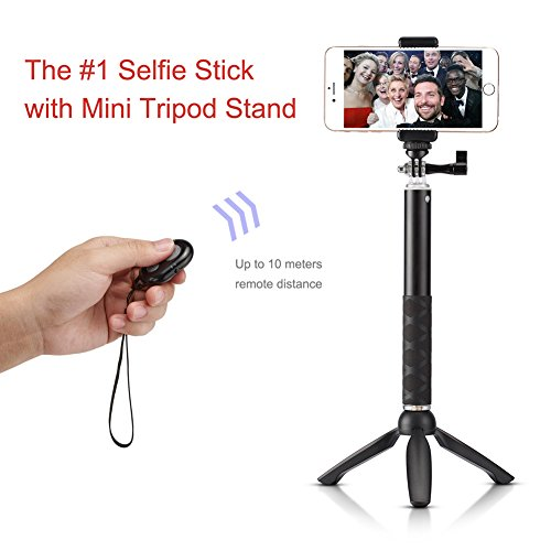 accmor rhythm pro selfie stick extendable handheld monopod with mini tripod s. Black Bedroom Furniture Sets. Home Design Ideas