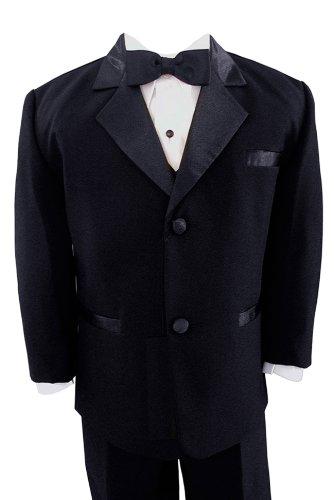 Gino Giovanni Usher Tuxedo Boy Black From Baby To Teen (16) front-893399