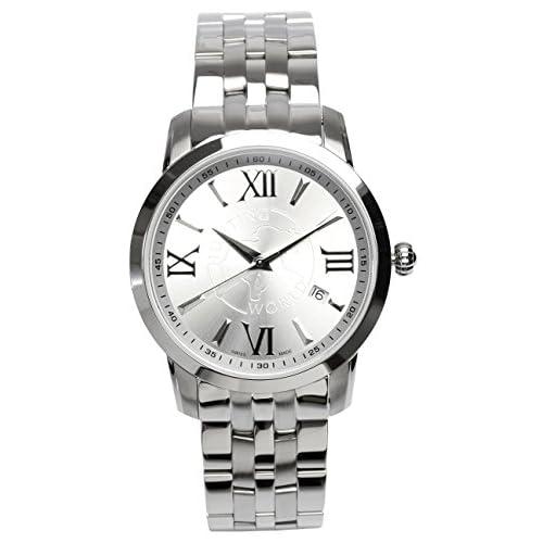 [ハンティングワールド]HUNTING WORLD 腕時計 ウォッチ タイムチェイサー ステンレススチール クォーツ HW920SI スイスメイド メンズ 【正規輸入品】