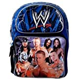 WWE Large Backpack - Wrestling Bakcpack (Blue)