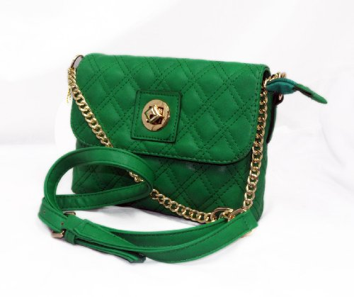 "IN STYLE ""225″ Quilted Crossbody Designer Inspired Handbag for Women (Green)"