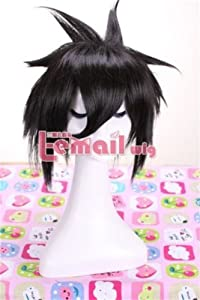 25cm Short Black Death Note Sasuke Uchiha Cosplay Wig Ml07