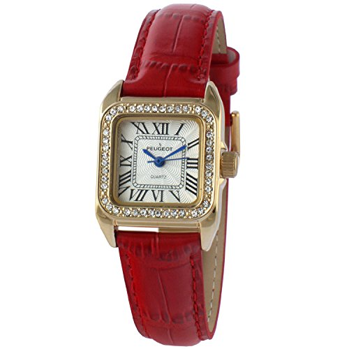 peugeot-womens-14k-gold-plated-square-tank-petite-small-red-leather-band-luxury-dress-watch-3052rd