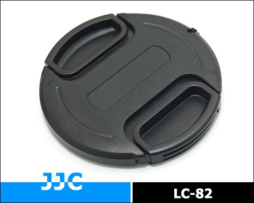 JJC 82mm Plastic Snap-on Lens Cap with lens cap keeper for Cameras and Camcorders - Canon, Leica, Nikon, Olympus, Panasonic, Pentax, Samsung, Sigma, Sony etc.