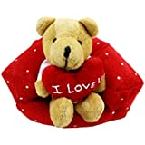Tickles 0 Teddy With Heart Sitting On Sofa Stuffed Soft Plush Toy For KIds 13 Cm