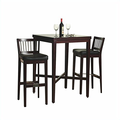 Home Styles Furniture 3-Piece Solid Wood Pub Table & Bar Stools Set in Cherry