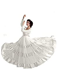 Pashimo White Color Net Fabric Gown For Women ( gown for women _ gowns for women party wear _ gown dress _ gowns for women party wear western _ Gown )