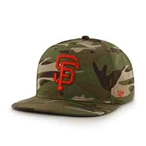 San Francisco Giants Camouflage Air Drop Leather Strap Adjustable Strapback Hat Cap by