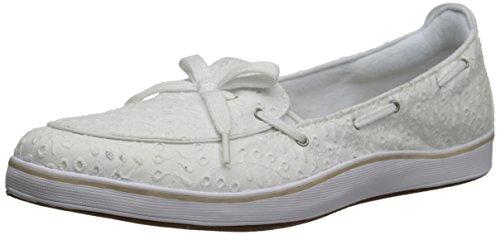 Grasshoppers Women's Windham Slip-On Loafer, White Eyelet, 8.5 W US