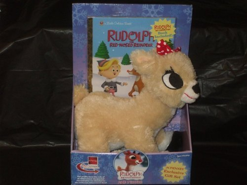 86a15c936da4 New Rudolph Red Nosed Reindeer Clarice Plush with Golden Book by JCPenney