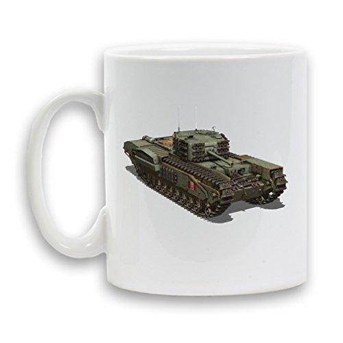 CHURCHILL-Tazza in ceramica, 325 ml, colore: bianco, confezione regalo da tè e da caffè a forma di contenitore per bevande