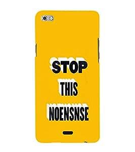 EPICCASE Stop d Non-sense Mobile Back Case Cover For Micromax Sliver 5 Q450 (Designer Case)
