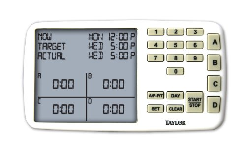 Taylor 750 Meal Scheduling Assistant, Calculates Start and Stop Times of Up to 4 Dishes