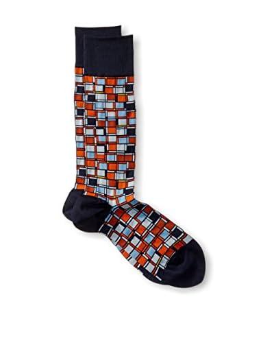 Ozone Men's Cubist Composition Sock