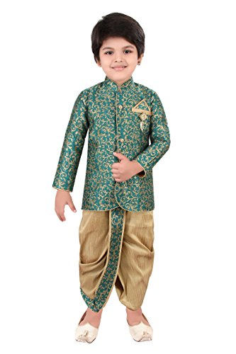 baby-boys-traditional-ethnic-dress-in-fawn-green-embroidered-kids-sherwani-with-silk-dhoti-dress-set