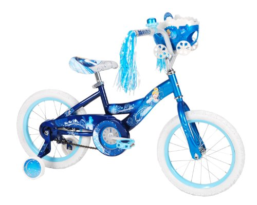 Huffy Disney Cinderella Bike (Starlight/Magical Blue, Medium/16-Inch)