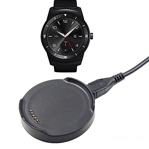 Smartwatch Charger, MFEEL Charging Cradle Dock Desktop Holder Adapter for LG G Watch R, W110 Smart Watch (LG G Watch R [W110]) (Lg G Watch R Charger compare prices)
