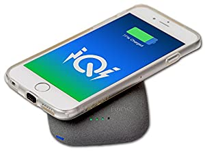QiStone - Qi Wireless Power Bank - 4000mAh - for All Qi Compatible Devices Including Samsung Galaxy Note 4, S5 SV, Nexus 4, 5, 6, 7, Moto 360 and other Phones with Receivers & iPhone with iQi Mobile